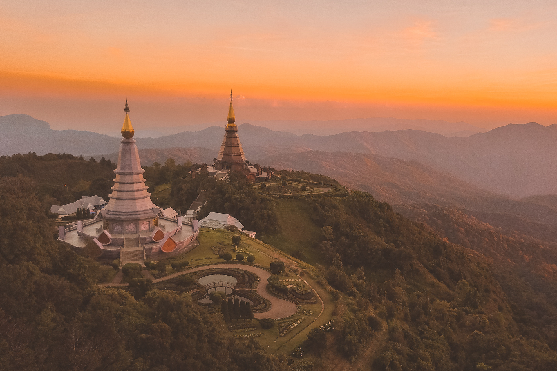 Twin Stupas em Doi Inthanon